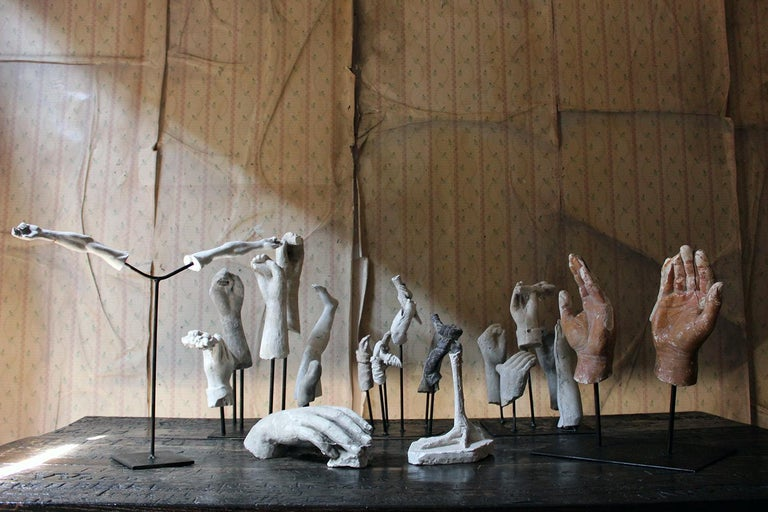 In the Manner of Eduardo Paolozzin Group of 23 Plaster Maquettes 12