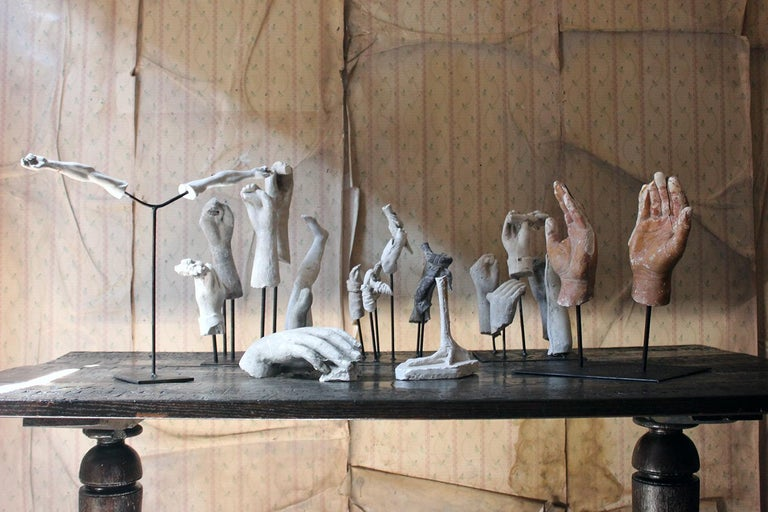 In the Manner of Eduardo Paolozzin Group of 23 Plaster Maquettes 13