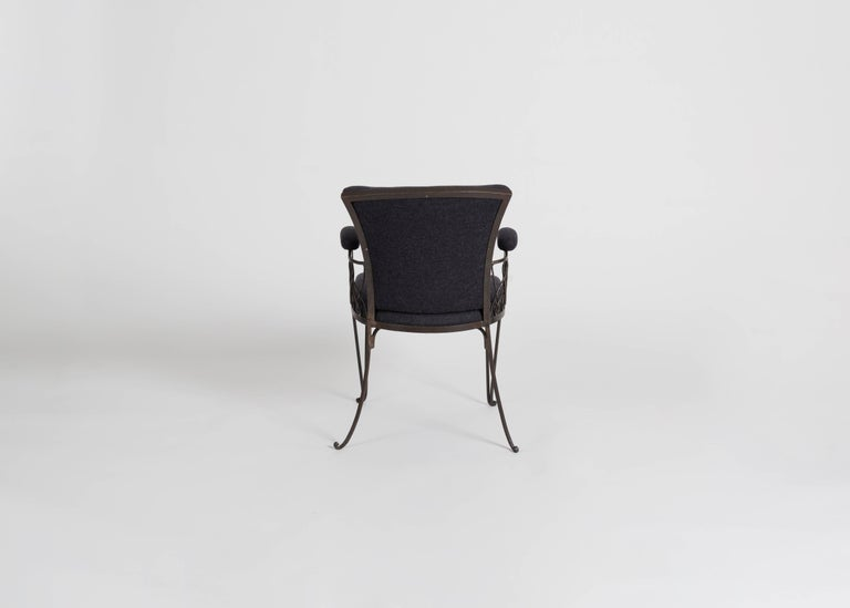 In the Manner of Jean Pascaud, Wrought Iron Armchair, France, C. 1935 In Good Condition For Sale In New York, NY