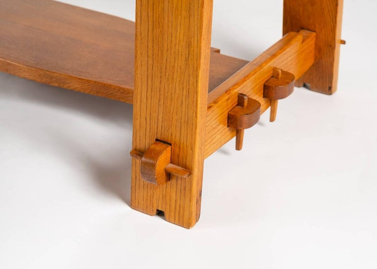 French In the Manner of Maurice Pré, Rectangular Coffee Table, France, Mid-20th Century For Sale