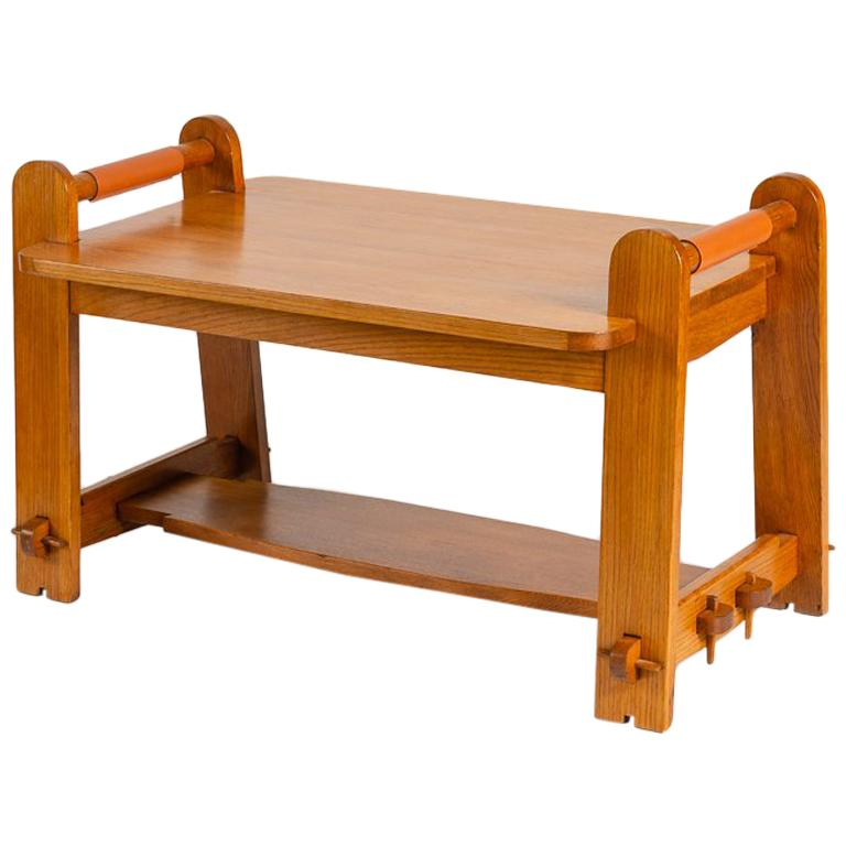 In the Manner of Maurice Pré, Rectangular Coffee Table, France, Mid-20th Century For Sale