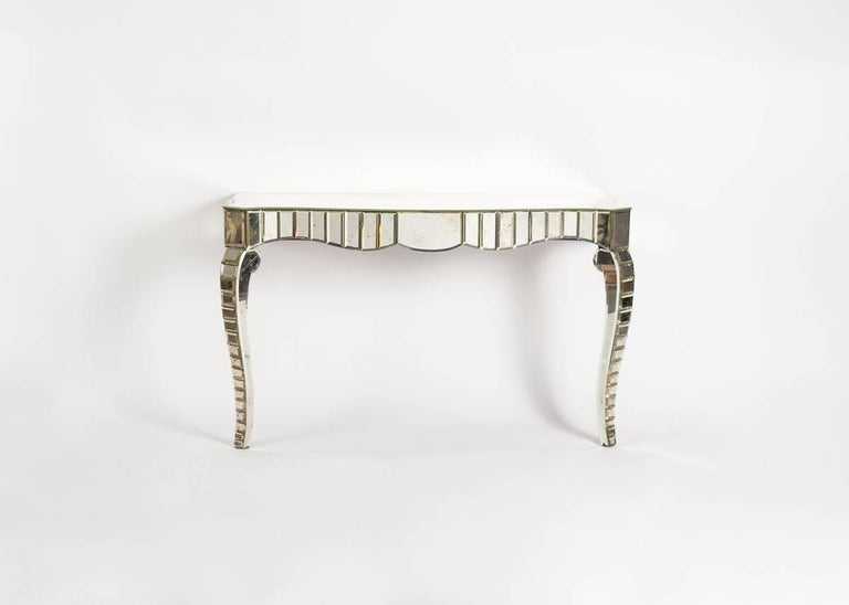 In the Manner of Serge Roche, Mirrored Glass Console, France, C. 1950 For Sale 1
