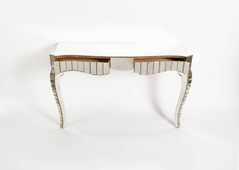In the Manner of Serge Roche, Mirrored Glass Console, France, C. 1950 For Sale 2