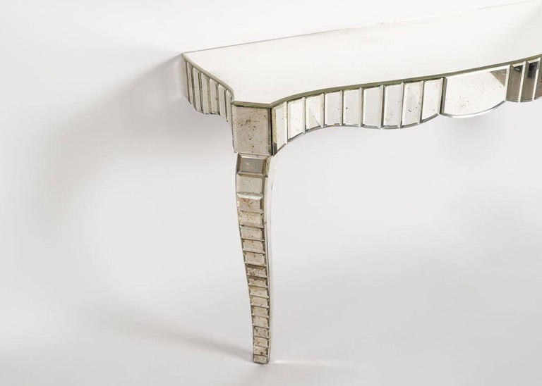 In the Manner of Serge Roche, Mirrored Glass Console, France, C. 1950 For Sale 3