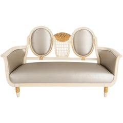 In the Manner of Sue et Mare & André Groult, Art Deco Settee, France, circa 1912