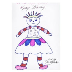 In the Night Garden Drawing Signed by Derek Jacobi, 21st Century