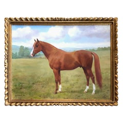 """In the Pasture"" Horse Painting by Frances Mabel Hollams"