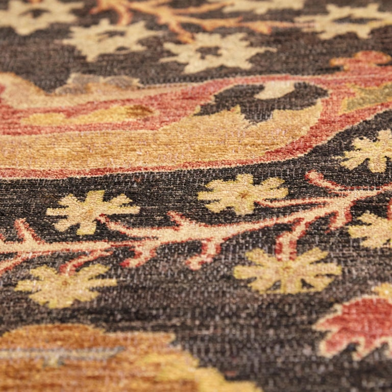 in the Style of Bidjar Old Indian Hand Knotted Wool Large Rug For Sale 4
