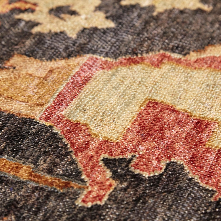 in the Style of Bidjar Old Indian Hand Knotted Wool Large Rug For Sale 6