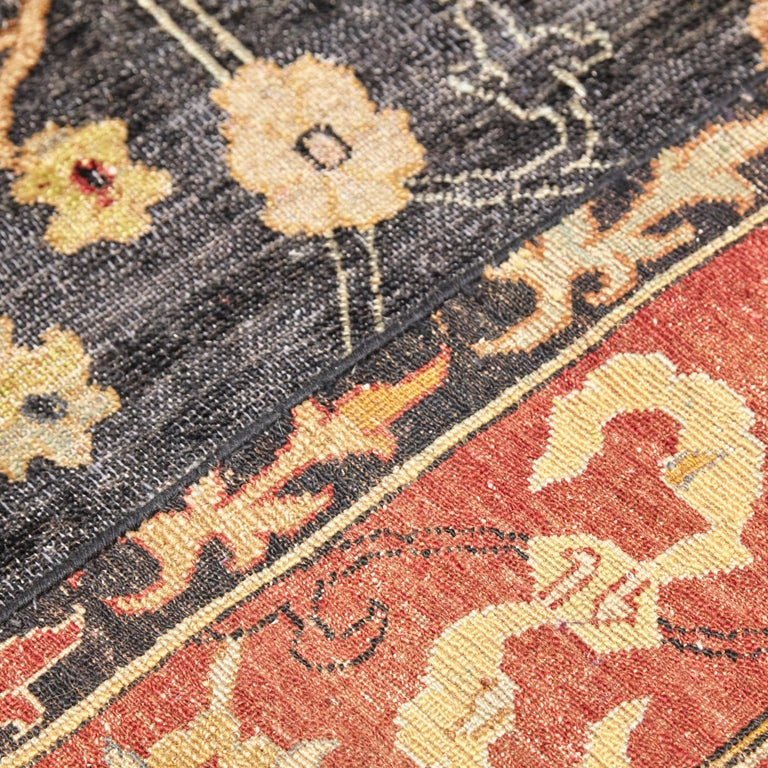 in the Style of Bidjar Old Indian Hand Knotted Wool Large Rug For Sale 7