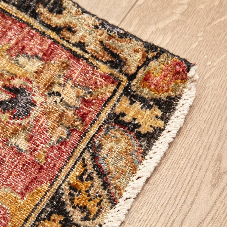 in the Style of Bidjar Old Indian Hand Knotted Wool Large Rug For Sale 8