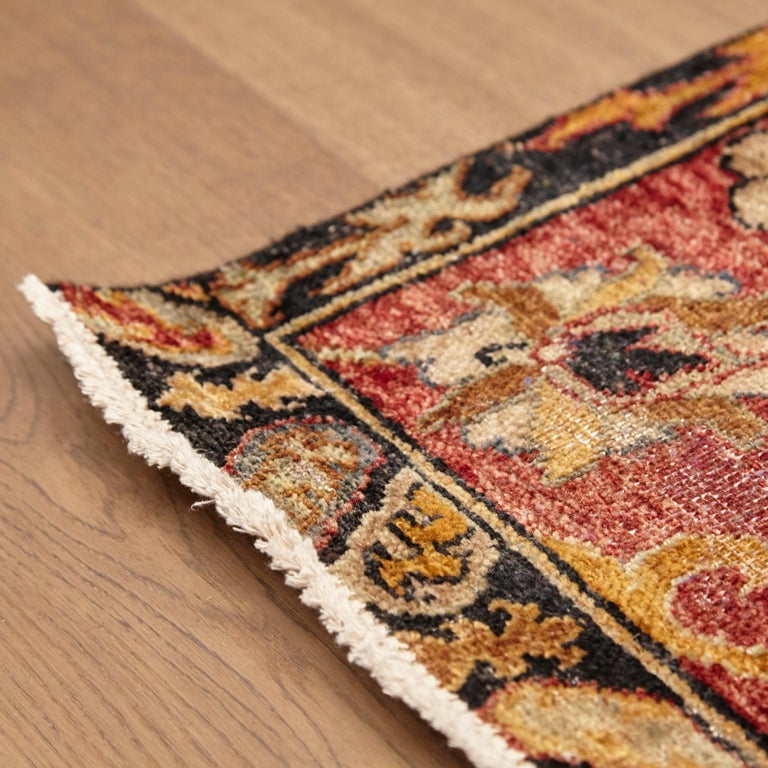 in the Style of Bidjar Old Indian Hand Knotted Wool Large Rug For Sale 9