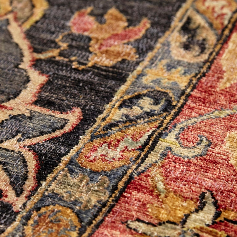Contemporary in the Style of Bidjar Old Indian Hand Knotted Wool Large Rug For Sale