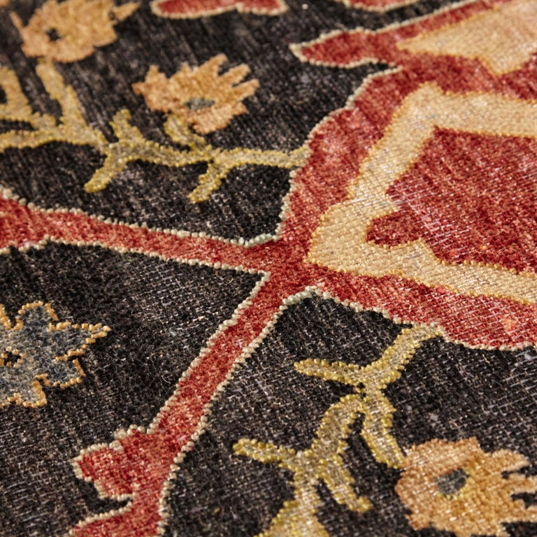in the Style of Bidjar Old Indian Hand Knotted Wool Large Rug For Sale 1