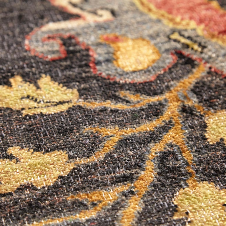 in the Style of Bidjar Old Indian Hand Knotted Wool Large Rug For Sale 3