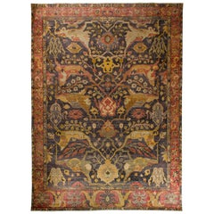 In the Style of Bidjar Old Indian Hand Knotted Wool Large Rug