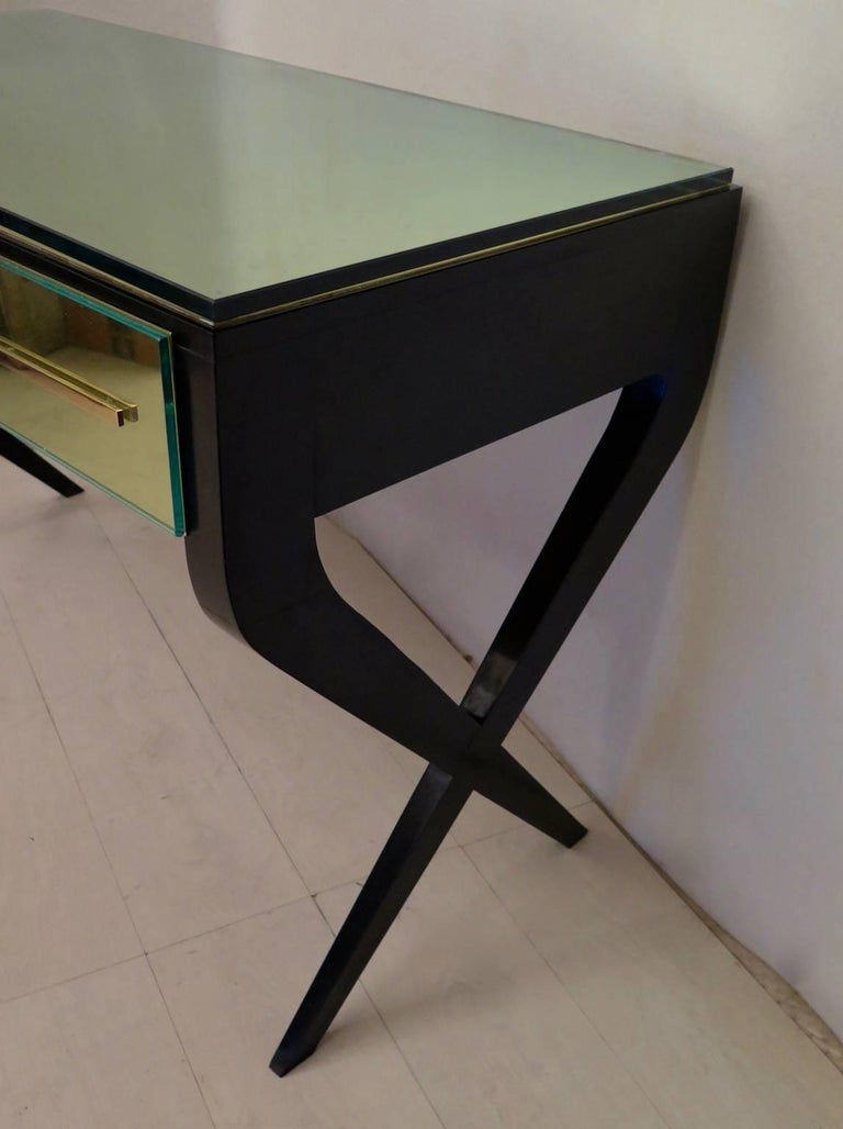 In the Style of Gio Ponti Italian Desk, 1950 In Excellent Condition For Sale In Rome, IT