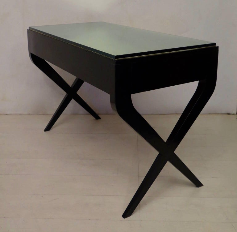In the Style of Gio Ponti Italian Desk, 1950 For Sale 1