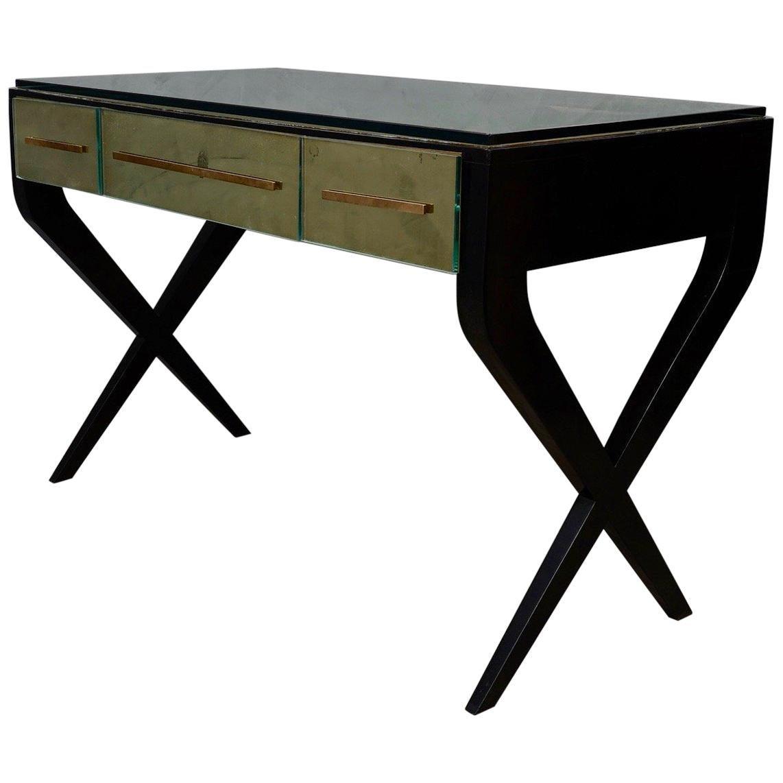 In the Style of Gio Ponti Italian Desk, 1950