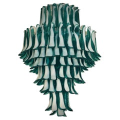 In the style of Gruppo Luce for La Murrina Emerald Color Chandelier, 2010's