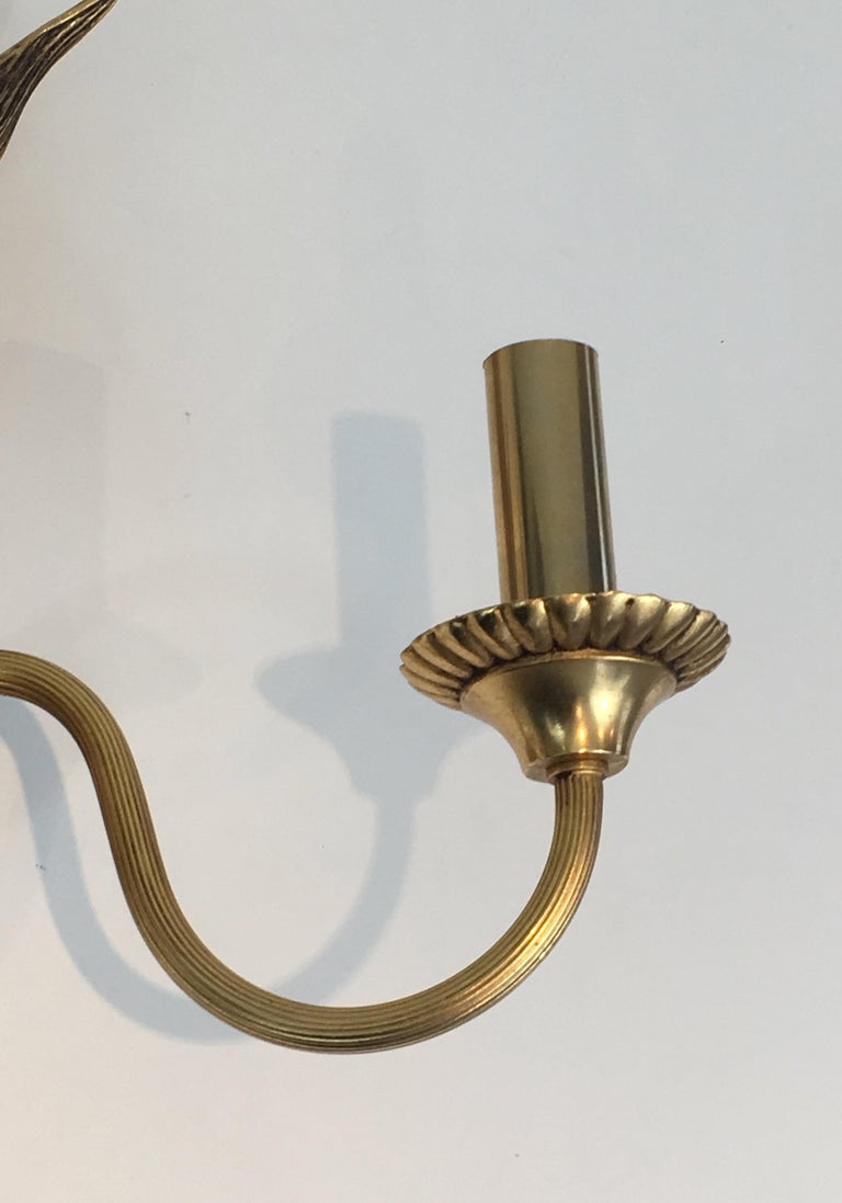 Pair of Bronze and Brass Palm Tree in the Style of Maison Charles For Sale 4