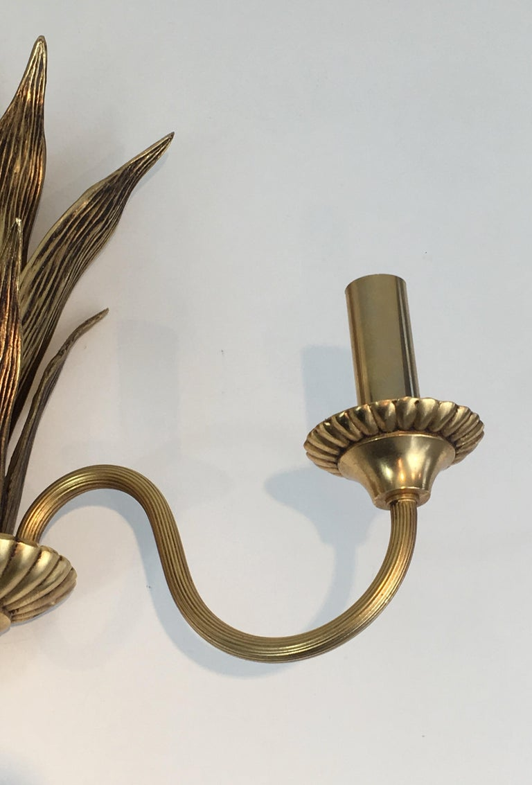 Pair of Bronze and Brass Palm Tree in the Style of Maison Charles For Sale 3