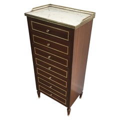 In the Style of Maison Jansen, Neoclassical Style Mahogany Chest of Drawers
