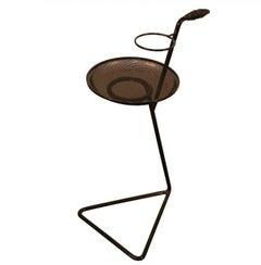 In the Style of Mathieu Matégot Side Table in Perforated Metal, circa 1950