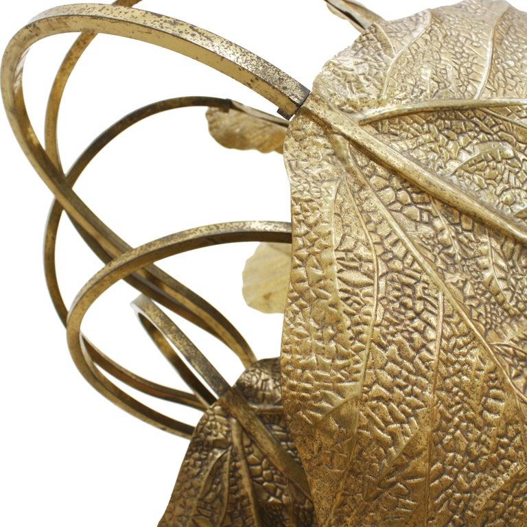 In the Style of Mid-Century Modern Tommaso Barbi Brass Italian Floor Lamp, 1970s For Sale 1