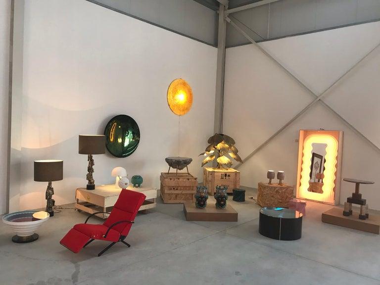 In the Style of Mid-Century Modern Tommaso Barbi Brass Italian Floor Lamp, 1970s For Sale 4
