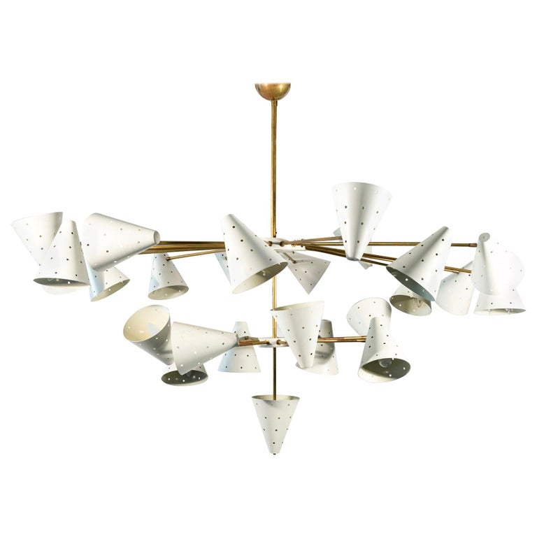 In the style of Stilnovo, Important Luster, circa 1950, Italy For Sale