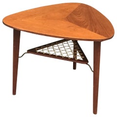 """""""Guitar Pick"""" Occasional Table/Danish/Danish Tale in the Style Poul Jensen"""