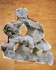 Unrock – Ina Jang, Abstract, Minimalistic, Surrealism, Structure, Rock, Mask