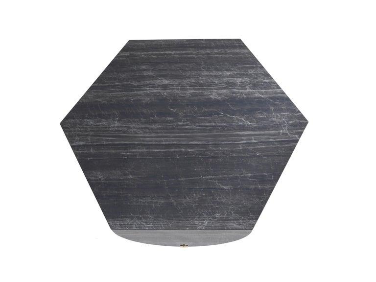Italian Inagua Side Table in Dark Wood by Roberto Cavalli For Sale