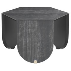 Inagua Side Table in Dark Wood by Roberto Cavalli