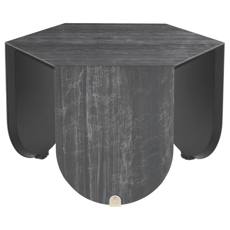 Inagua Side Table in Dark Wood by Roberto Cavalli For Sale