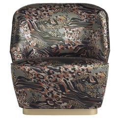 Inanda Armchair in Silk and Leather by Roberto Cavalli