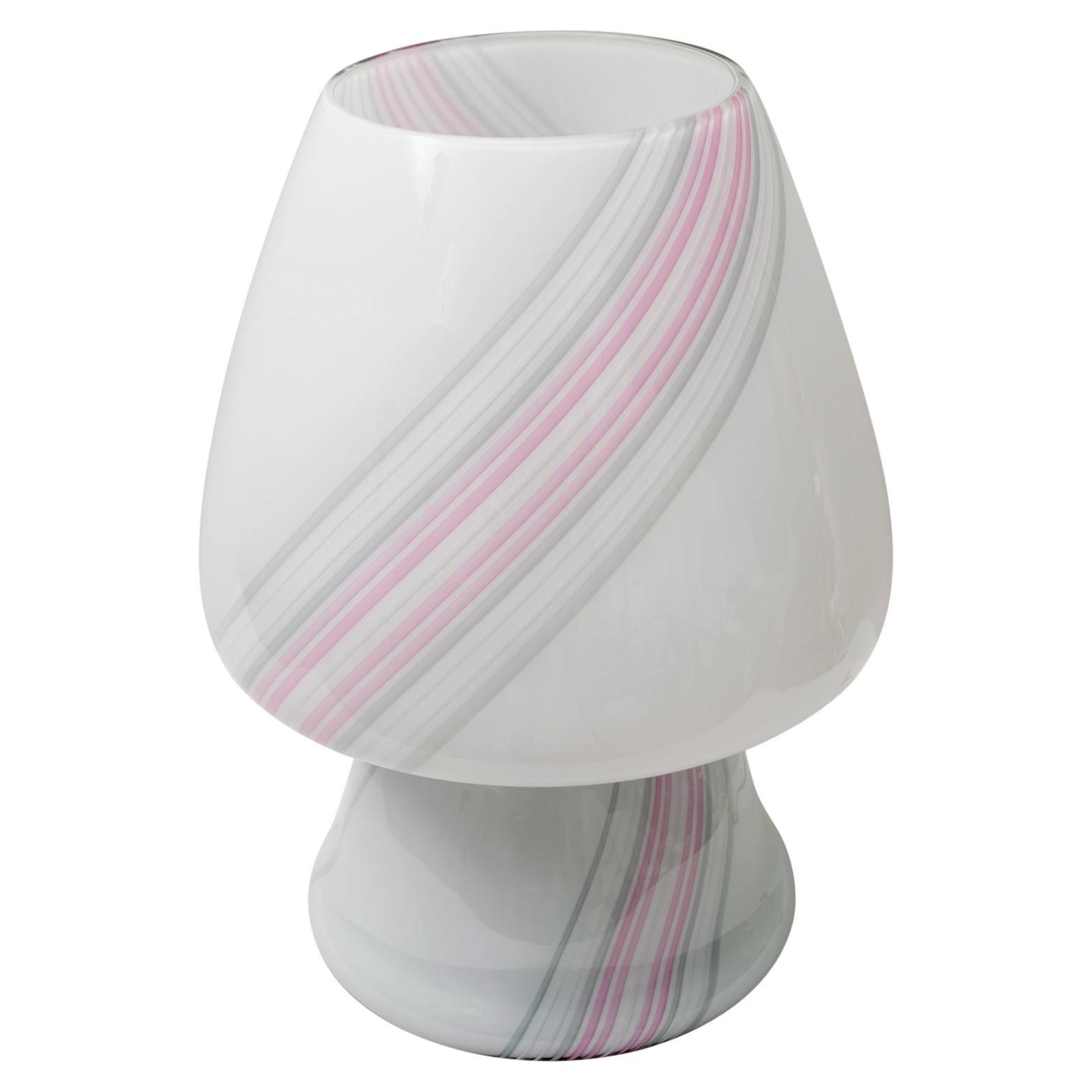 """Incamiciato"" Murano Glass Modern Mushroom Table Lamp, 1980s"