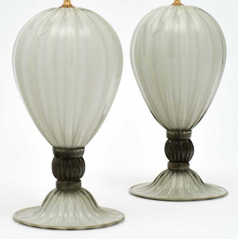 Pair of Italian hand blown Murano
