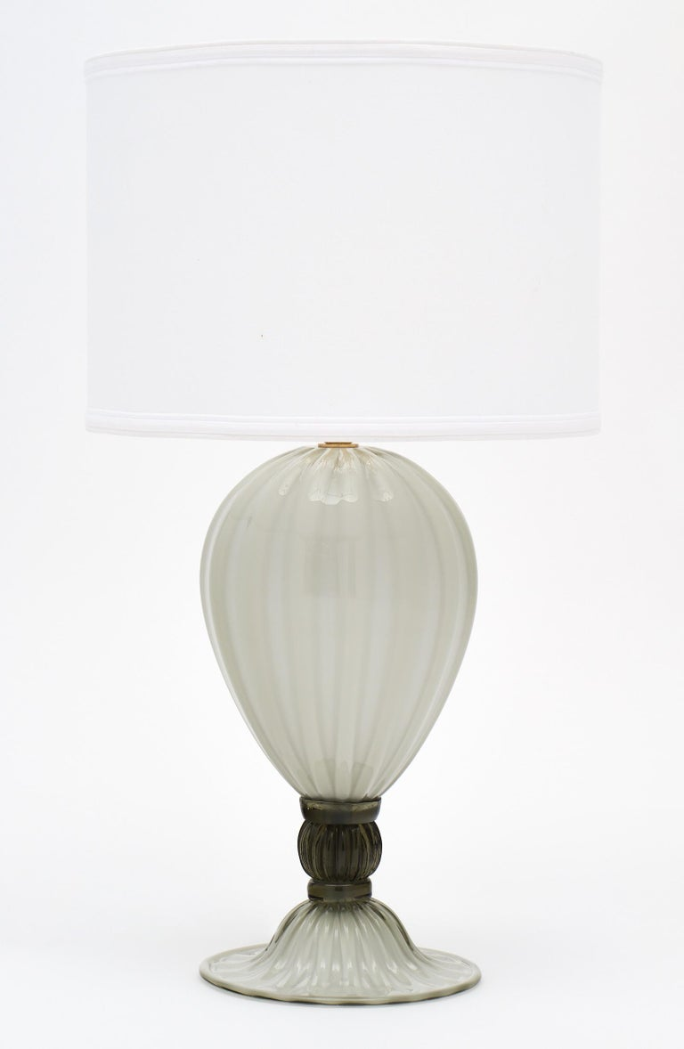 "Italian ""Incamiciato"" Murano Glass Table Lamps For Sale"
