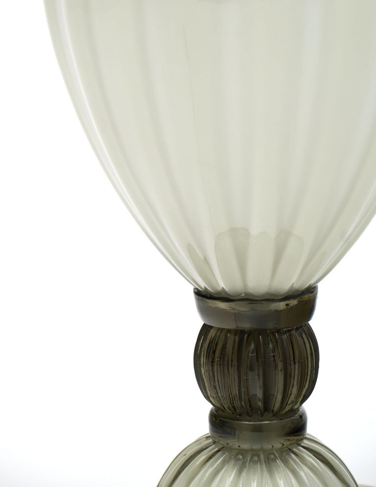 "Contemporary ""Incamiciato"" Murano Glass Table Lamps For Sale"
