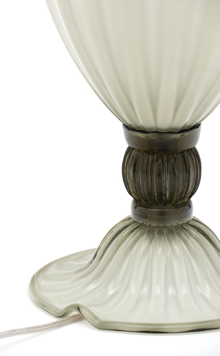 """Incamiciato"" Murano Glass Table Lamps For Sale 1"