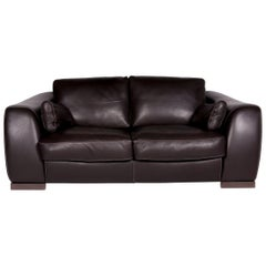 Incanto Leather Sofa Brown Two-Seat