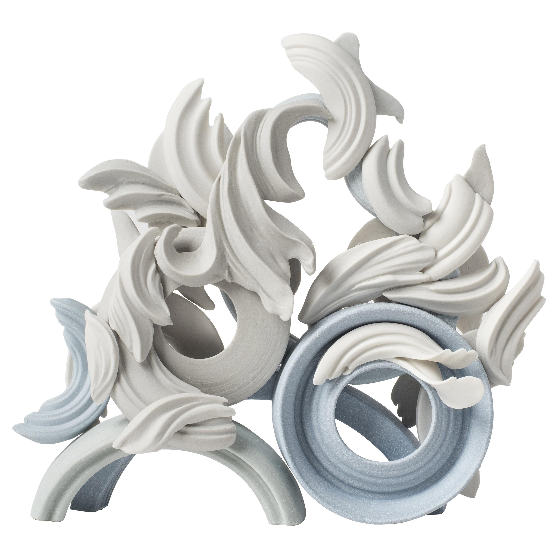 Incidental V, a Unique Colored Porcelain Ceramic Sculpture by Jo Taylor