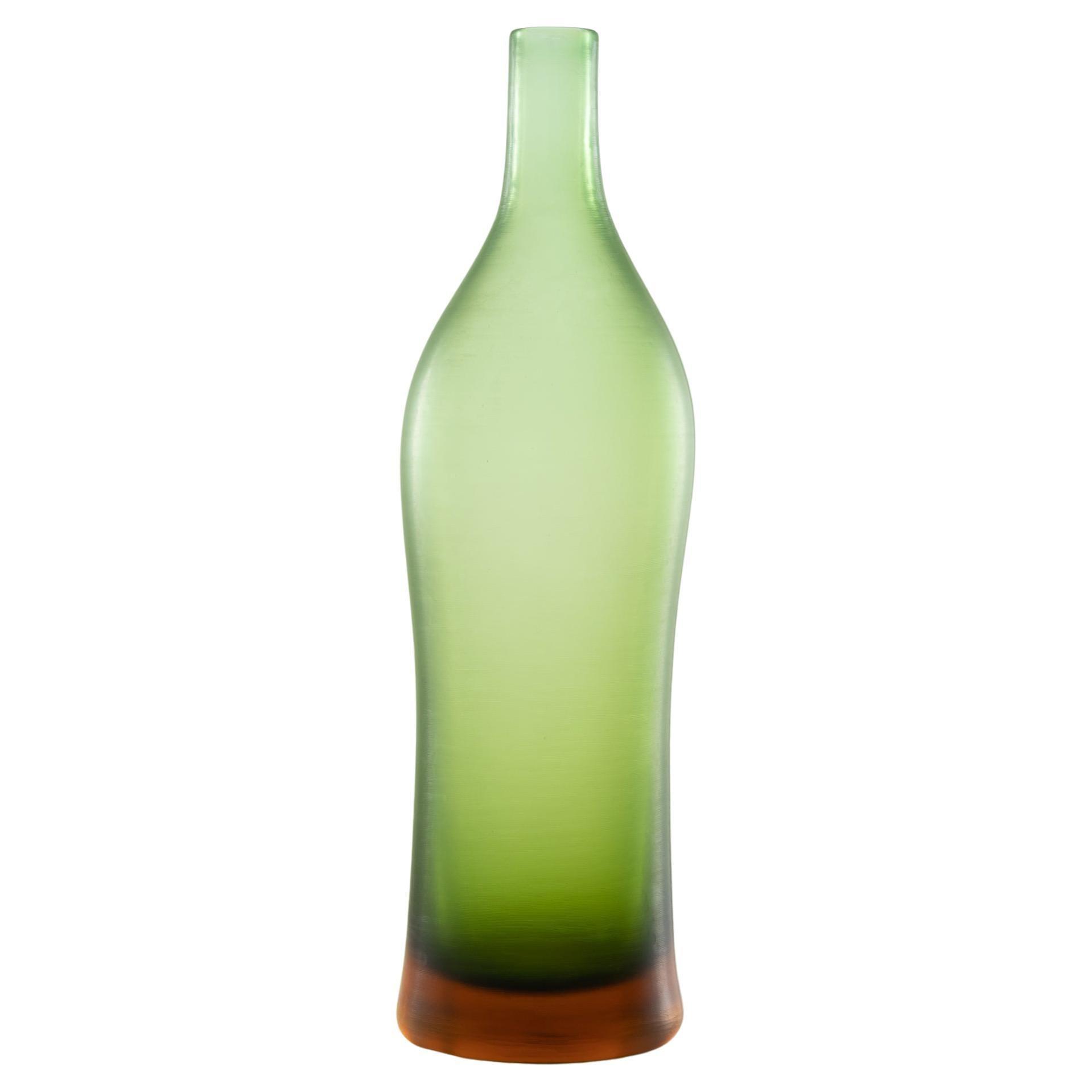 Inciso Bottled Vase by Paolo Venini, Venini, Italy