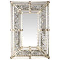 Inciso Venetian Glass Mirror