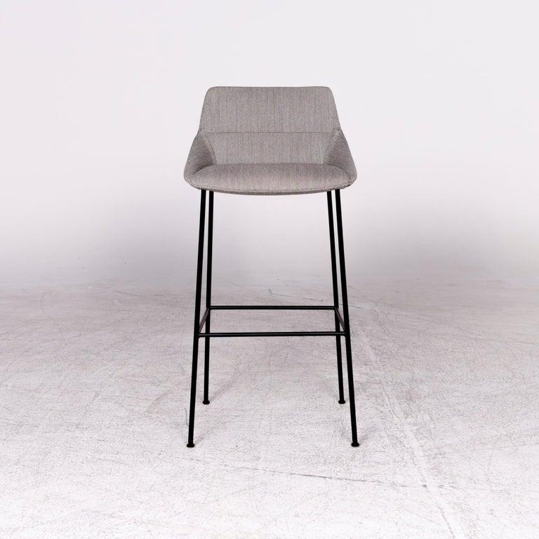 Inclass Dunas Xs Designer Fabric Armchair Bar Stool Set Gray Chair