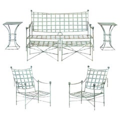 Incomparable 7-Piece Seating Set by Mario Papperzini for Salterini, circa 1950