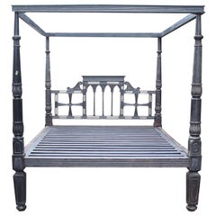 Incredible 19th Century British Colonial Mahogany King sized Bed