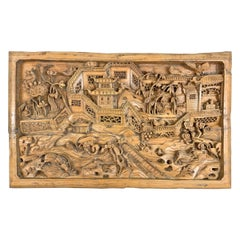 Incredible Early 20th Century Chinese Carved Panel